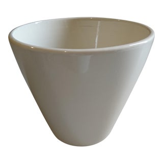 Early 21st Century Modern White Cone Shape Vase For Sale