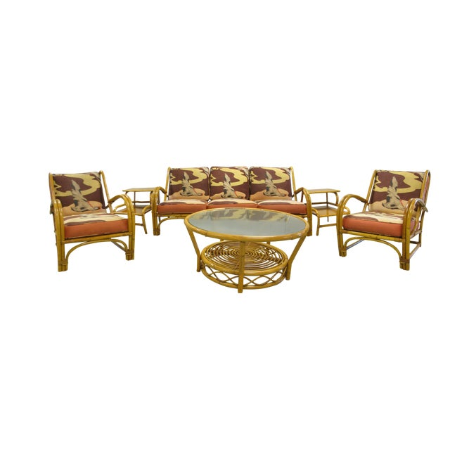 Willow & Reed Rattan Living Room Set For Sale