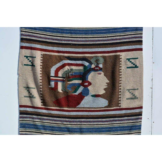 For your consideration, a vintage Indian blanket, wall tapestry decoration.