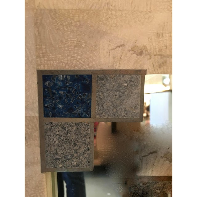 Mid-Century Tessellated Stone Mirror For Sale - Image 5 of 6