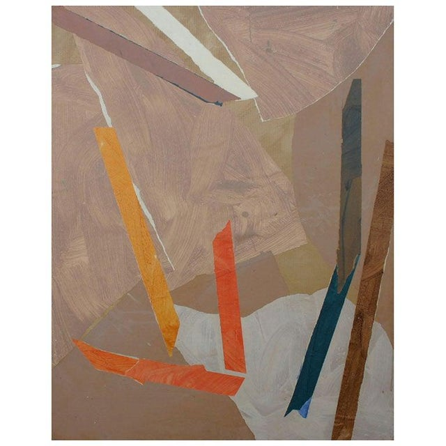 Painted Paper Collage by Trevor Jones For Sale In New York - Image 6 of 6