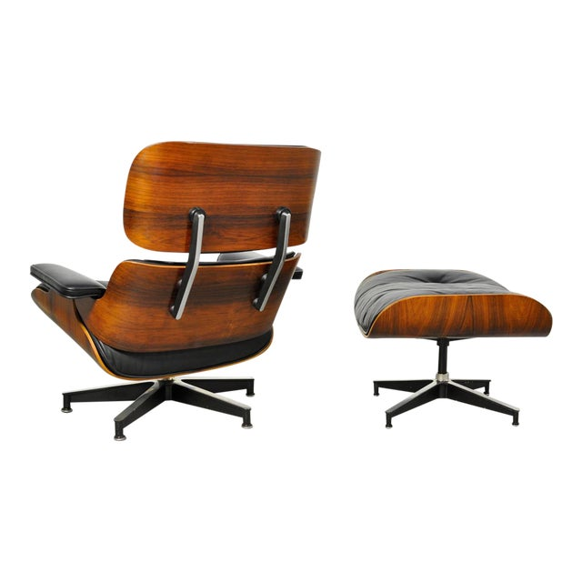 Vintage Rosewood Lounge Chair and Ottoman by Charles Eames - Image 1 of 10
