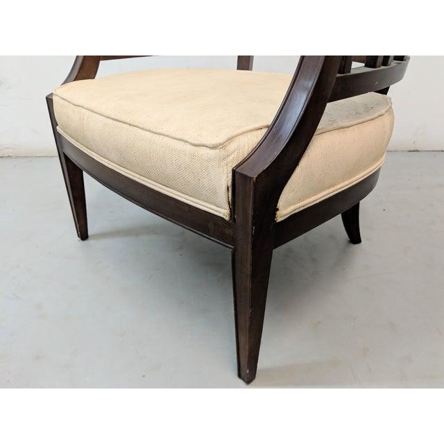 1970s Vintage Hollywood Regency Lattice Barrel Back Lounge Chair For Sale In Chicago - Image 6 of 13