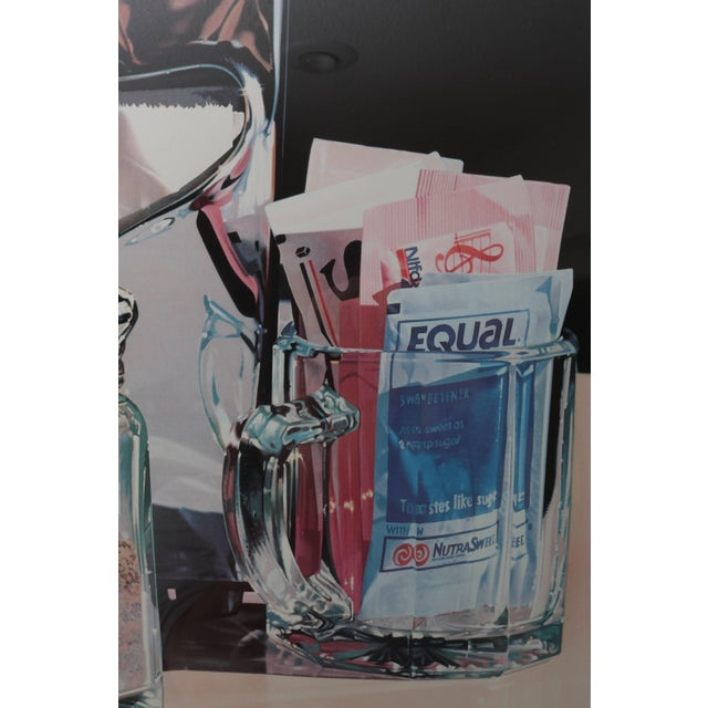 Modern Framed Lithograph Still Life of an American Diner Table Scape by Ralph Goings Ltd Ed For Sale - Image 3 of 8