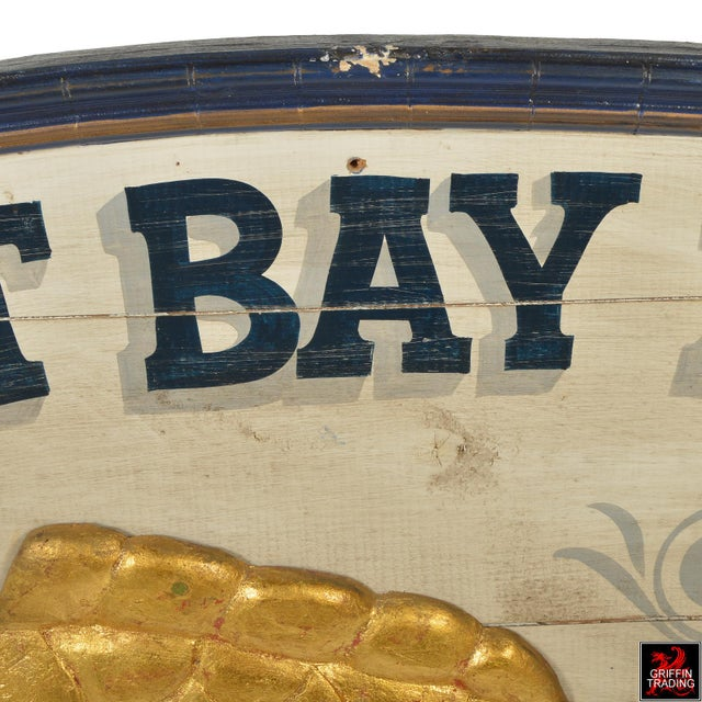 1980s East Bay Fish Packing Company Trade Sign For Sale - Image 5 of 11