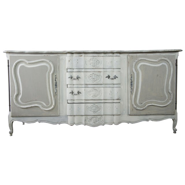 19th Century Antique French Country Provincial White Sideboard For Sale - Image 13 of 13