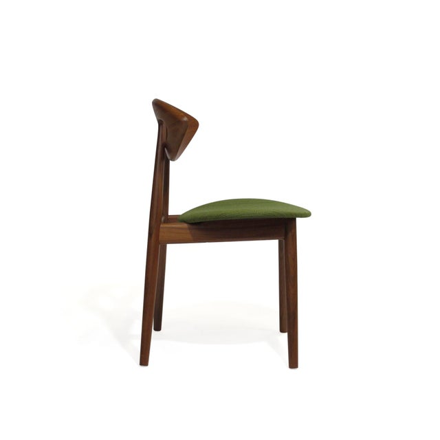 Danish Modern Pair of Ejvind a Johansson Danish Eye Chairs For Sale - Image 3 of 13