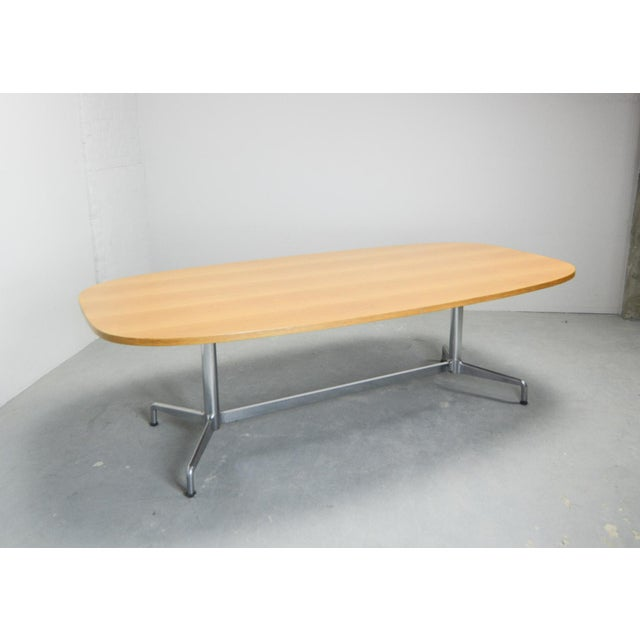 1960s Large Mid-Century Design Eames Conference Dining Table for Herman Miller, Usa, 1960s For Sale - Image 5 of 11