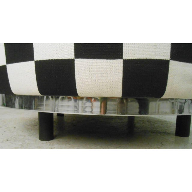 Checkered Contemporary Modern Italian Club Chair For Sale In New York - Image 6 of 8