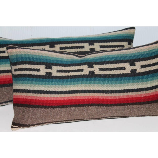 Adirondack Pair of Mexican Serape Pillows For Sale - Image 3 of 4