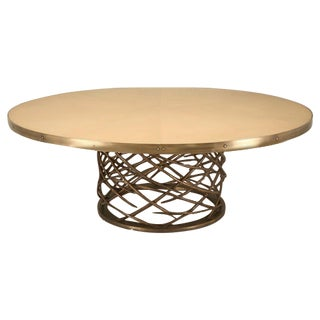 Custom-Made Woven Solid Bronze Table Base