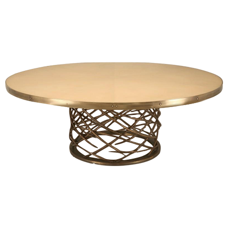 Perfect Custom Made Woven Solid Bronze Table Base   Image 1 Of 11
