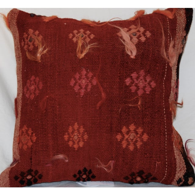 Vintage Handmade Wool Decorative Boho Pillow - Image 2 of 6