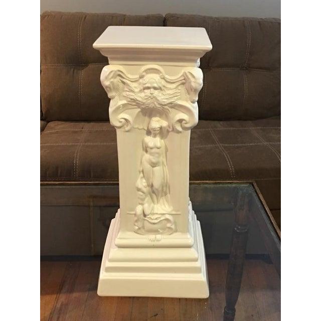 Vintage White Greek Pedestal Column - Image 3 of 7