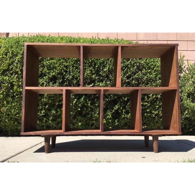 Mid-Century Syle Walnut Bookcase - Image 3 of 4