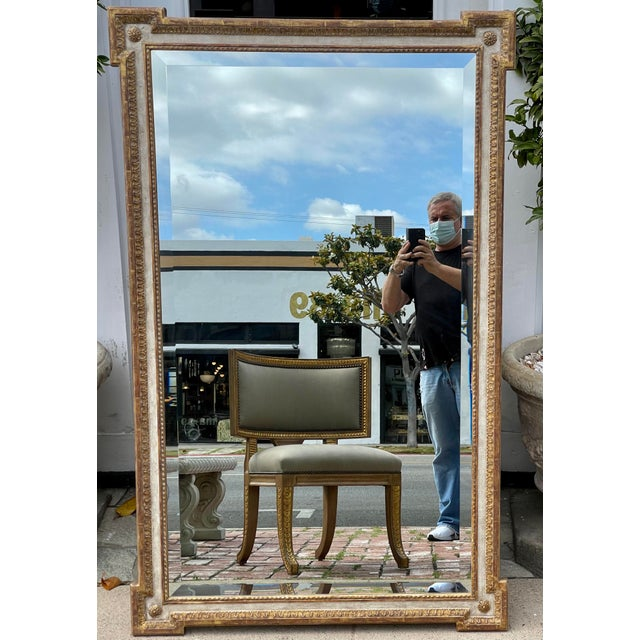 Wood 18th C Style Quatrain for Dessin Fournir Giltwood Neoclassical Mirror For Sale - Image 7 of 7
