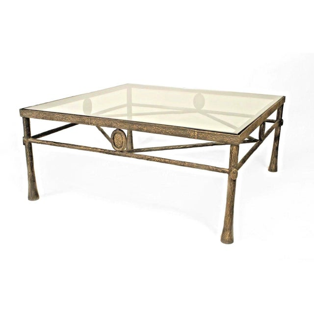 Mid 20th Century Postwar Design 'Giacometti Style' Dark Bronze Patina Coffee Table For Sale - Image 5 of 5