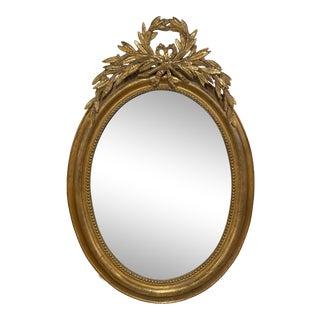 French Oval Louis Philippe Mirror For Sale