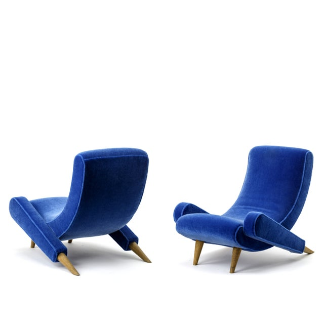 "Jean Royere stunning documented pair of lounge chairs model ""Varsano"". Jean Royere decorateur a Paris Exhibition in 2000..."
