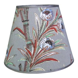 French Provincial Floral Print Lampshade For Sale