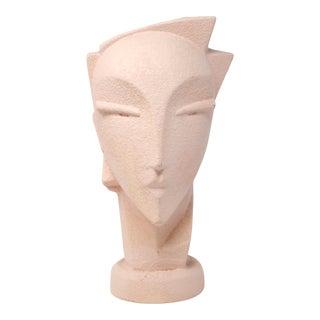 1990s Memphis Modern Pink Ceramic Head Vase For Sale