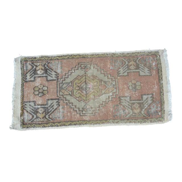 Turkish Anatolian Oushak Carpet - 1′7″ × 3′2″ For Sale