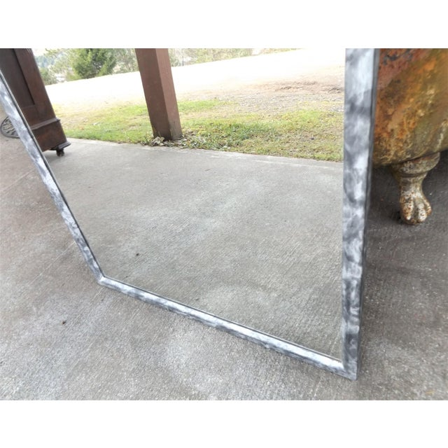 Southwest Inspired Metal Framed Wall Mirror For Sale - Image 4 of 7