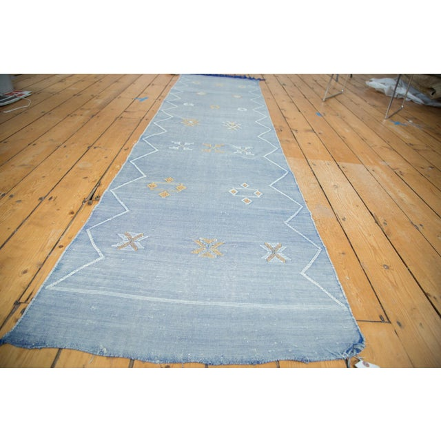 "Denim Blue Kilim Rug Runner - 2'6"" X 8'10"" - Image 2 of 9"