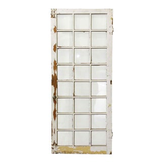 20th Century Traditional Single Window With 24 Panels