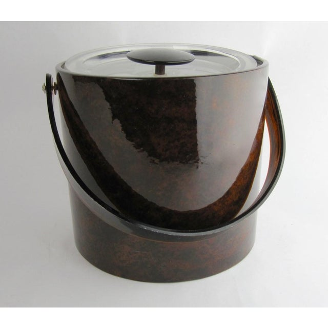 Vintage Georges Briard Tortoise Finish Ice Bucket For Sale - Image 9 of 9