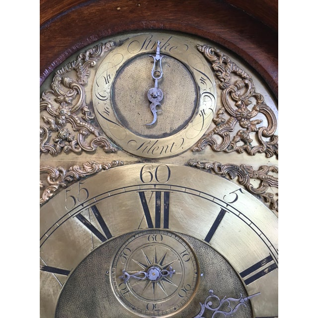 18th Century Longcase 8 Day Time & Strike Clock For Sale In Los Angeles - Image 6 of 13