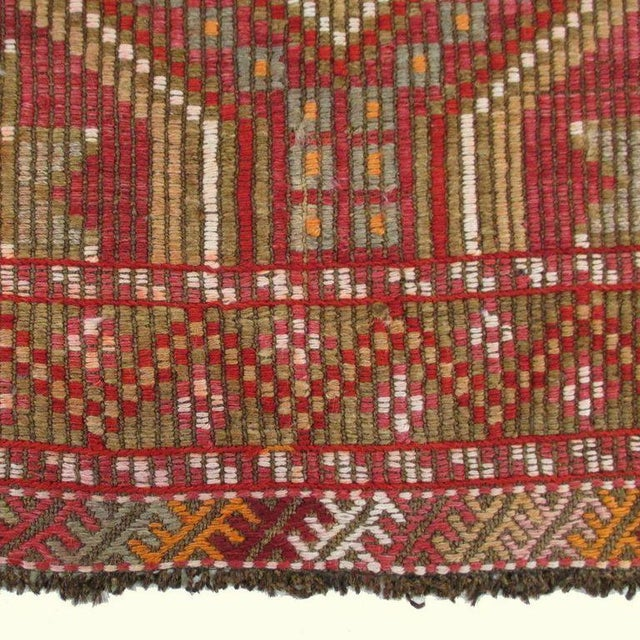 Red Turkish Kilim Flatweave - 6'2'' x 9'11'' - Image 5 of 5