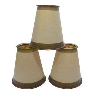 Hand-Painted Clip-On Lamp Shades - Set of 3 For Sale