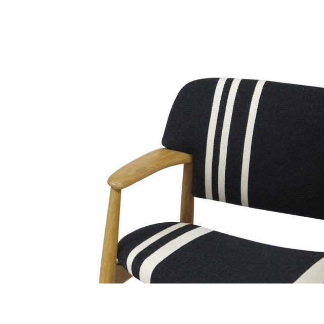 Pair of Aksel Bender Madsen for Fritz Hansen Oak Armchairs For Sale - Image 10 of 11