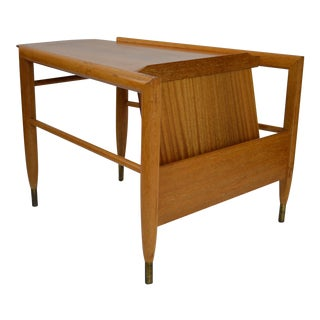 John Keal for Brown Saltman Danish Modern Wedge Table Magazine Rack