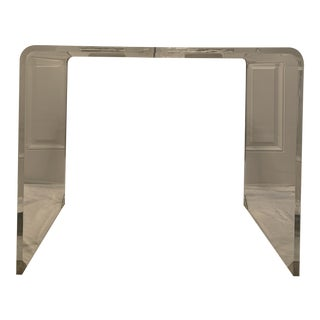21st Century Modern Lucite Waterfall Style Console For Sale