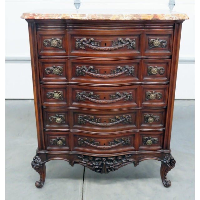 Louis XV Style Marble Top Dresser. For Sale - Image 11 of 11