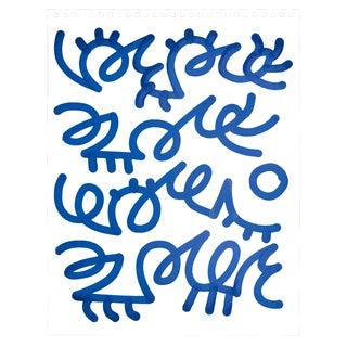 Alic Daniel Scribble in Blue Ink on Paper
