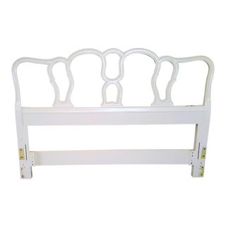 Vintage Mid-Century Drexel Touraine Collection French Provincial Inspired Queen Size Headboard For Sale