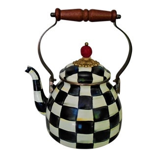 Mackenzie Childs Enameled Metal Teapot For Sale