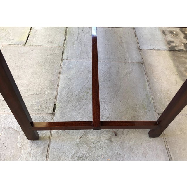 Brown Custom Flame Mahogany Collapsible Dessert or Serving Table For Sale - Image 8 of 10