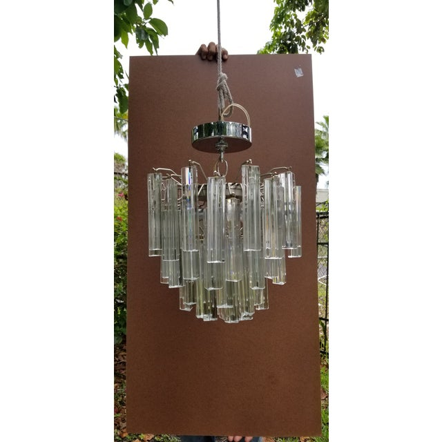 Italian 1960s Italian Glass Chandelier For Sale - Image 3 of 7