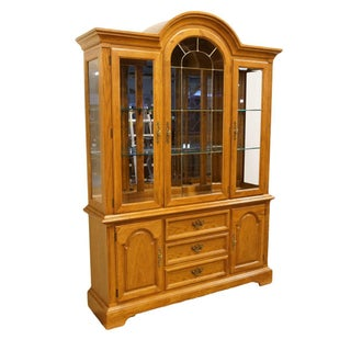 """20th Century French Country Stanley Furniture 60"""" Lighted Display China Cabinet Preview"""