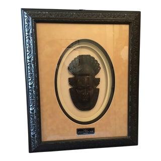 """""""Oba"""" African Tribal Mask, Framed For Sale"""