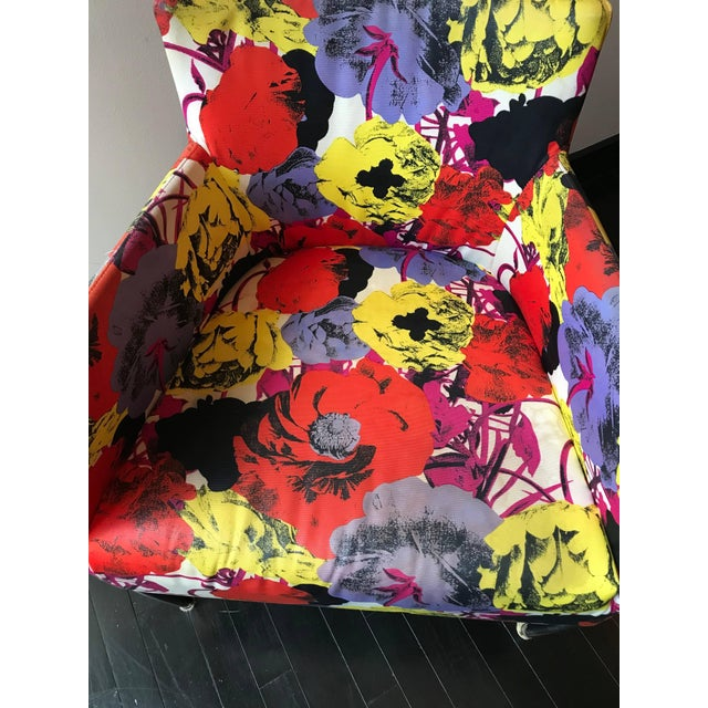 Textile Pair of Chairs From the Versace Showroom, 1990s For Sale - Image 7 of 9