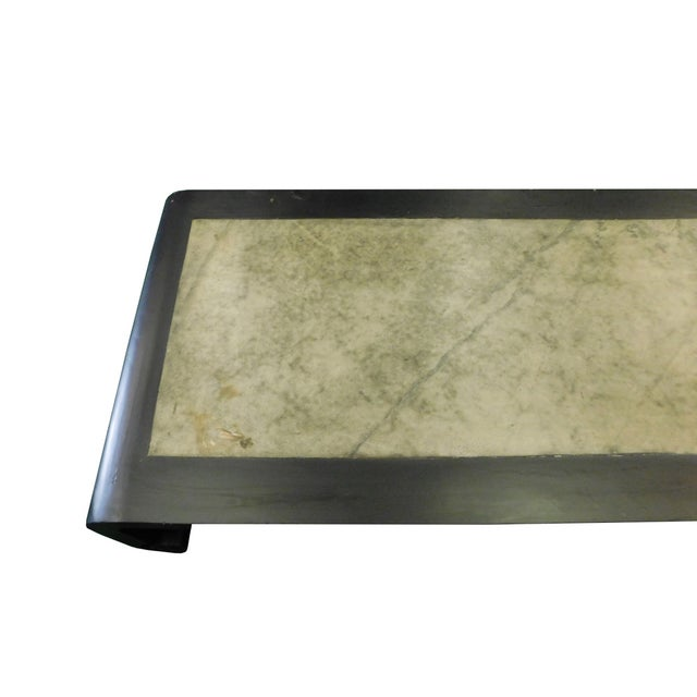 Black Scroll Legs Rectangular Marble Coffee Table - Image 4 of 9