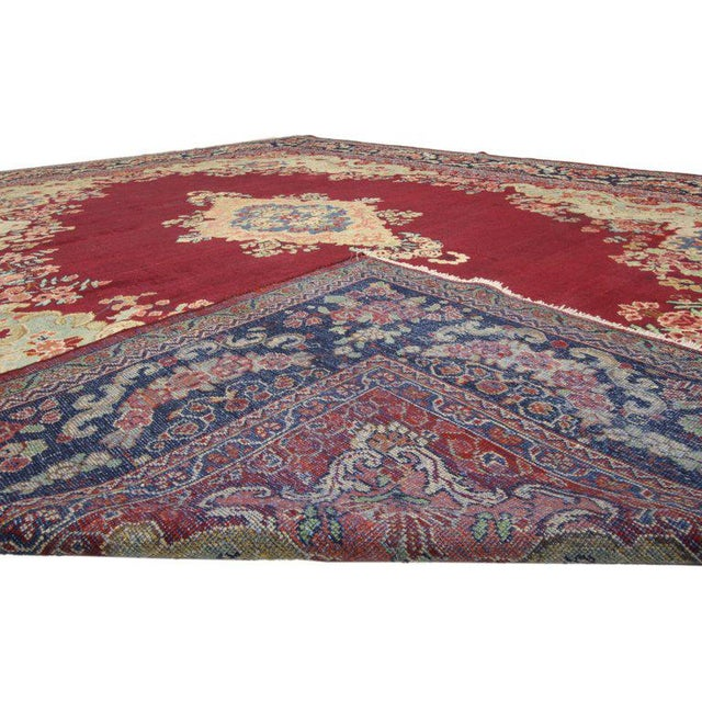 Vintage Mid-Century Persian Mahal Rug - 10′5″ × 13′7″ For Sale - Image 4 of 5