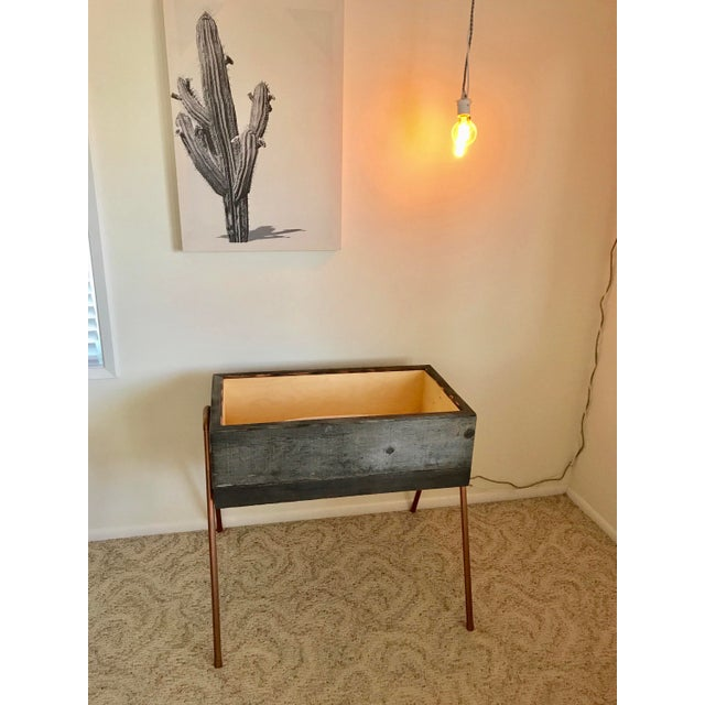 Reclaimed Wood & Copper Baby Bassinet - Image 5 of 5