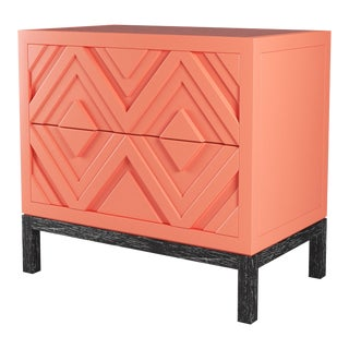 Susana Side Table - Coral Gables, Black Cerused Oak For Sale