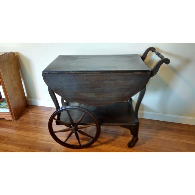 Antique Walnut Tea Cart Trolly - Image 2 of 4
